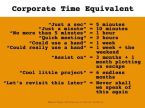 Corporate Time Equivalent
