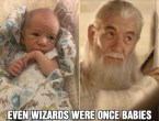 Even wizards were once babies