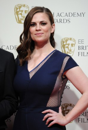 Hayley Atwell's Huge Tits ripped open her dress at the 2015 British Academy Film Awards in London