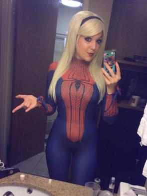 Nicole Marie Jean as Gwen Stacy as Spider Girl