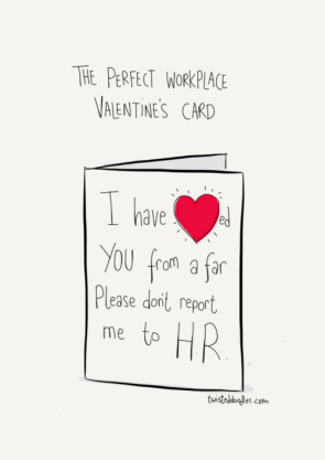 Perfect Workplace Valentine Card