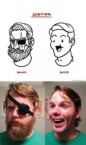 Shaving before and after