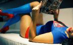 Supergirl enjoys some comics