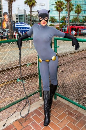 Animated Catwoman Cosplayer