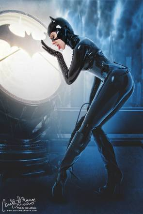 Catwoman cosplay by Carrie LaChance