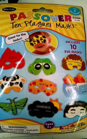 Passover Ten Plagues Masks