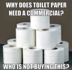 Why toilet paper needs TV