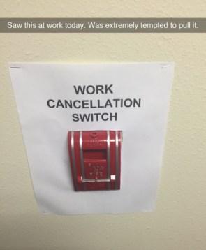 Work Cancellation Switch