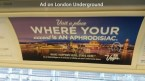 ad on London Underground