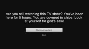 Netflix Warning