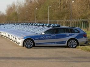 Police car line up