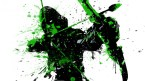 Splatter Arrow in Green