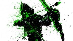 Splatter Arrow in Green