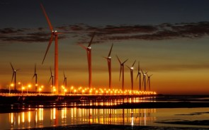 Sunset Wind Turbines