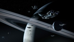 The Fleet entering orbit