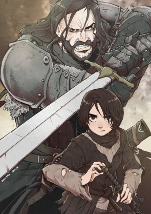 The Hound and his little friend