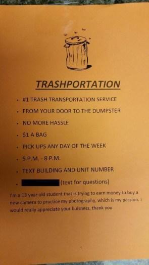 Trashportation