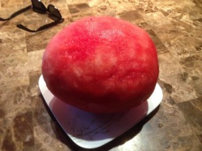 a peeled watermellon