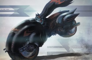 batman on a fat bike