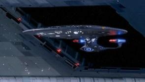 enterprise going through a door