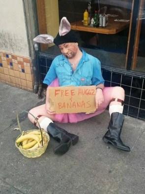 free hugs and bananas