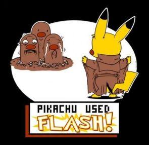 Pikachu used flash
