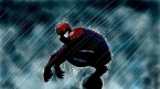 spider-man in the rain]