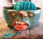 zombie yarn holder