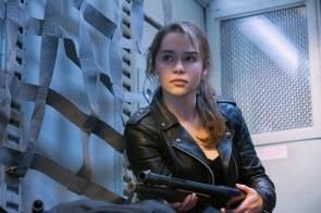 Emilia Clark with a shotgun
