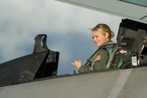 Emma Stone in a jet