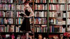 Felicia Day reads a book