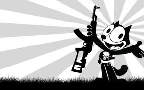 Felix with assault rifle