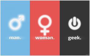 MAN WOMAN GEEK