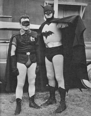 Robert Lowery and Johnny Duncan as Batman and Robin in the 1949 film