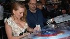Scarlett Johansson Signing Things