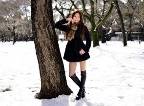 Short Skirt in the Snow