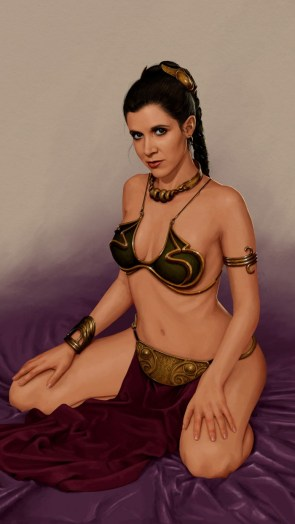 Slave leia ready for commands