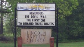 The equal rights of the DEVIL