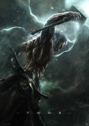 Thor in the rain