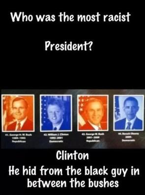 racist us president