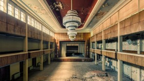 Ballroom of an abandoned hotel