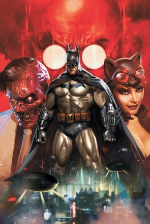 Batman and Two Face and Catwoman