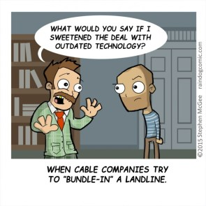 Bundle In a landline