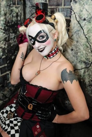 Harley with Batman Tattoo