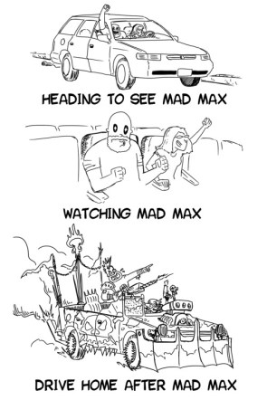 Mad Max traveling