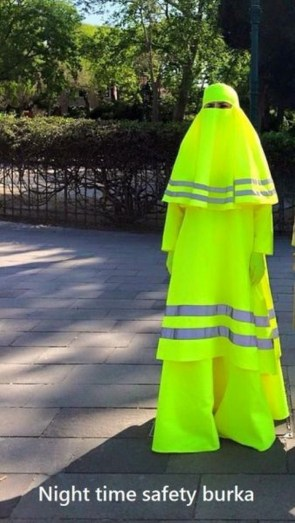 Night Time Safety Burka