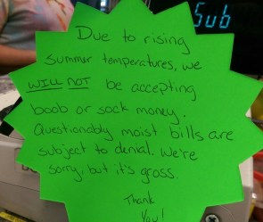 No boob money