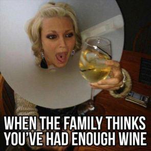 No more wine