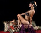Slave Leia riding a chair