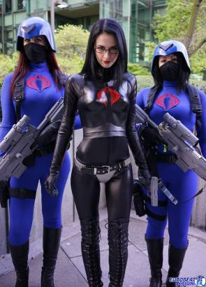 The Baroness and her honor Guard